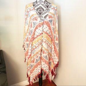 Forever 21 Tassel Kimono Coverup